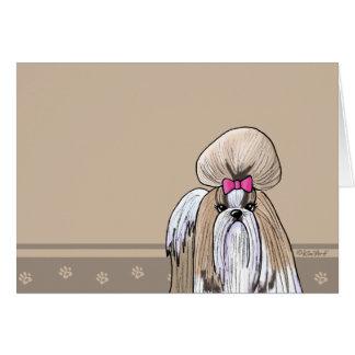 Shih Tzu Showgirl Note Card
