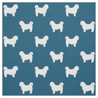 Shih Tzu Silhouettes Pattern Fabric