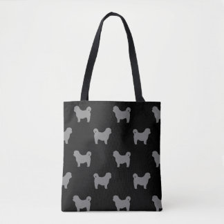 Shih Tzu Silhouettes Pattern Tote Bag
