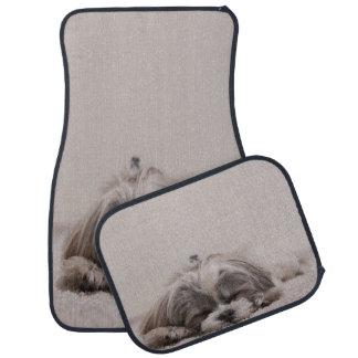 Shih tzu Sleeping Car Mat , Sleeping Dog