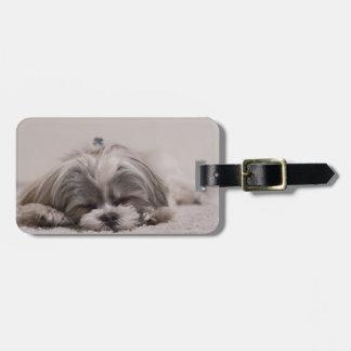 Shih tzu Sleeping Luggage Tag , Sleeping Dog