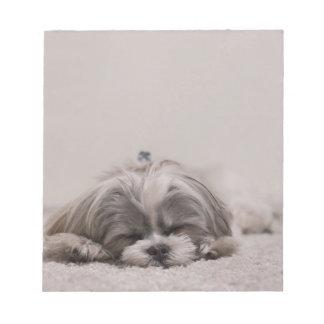 Shih tzu Sleeping Notepad , Sleeping Dog