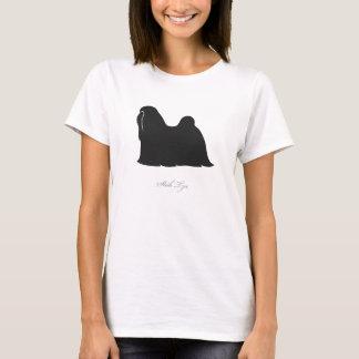 Shih Tzu T-shirt (black silhouette)