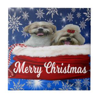 Shih tzu Tile, Christmas Tile
