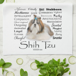 Shih Tzu Traits Kitchen Towel