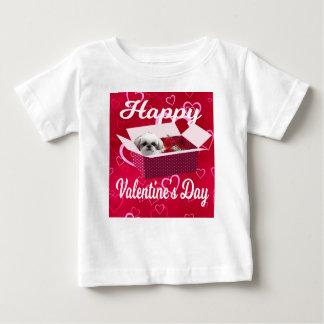 Shih tzu Valentine's Day Baby Shirt, Dog Baby T-Shirt