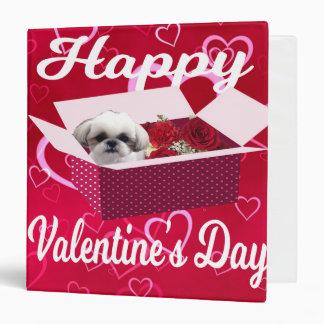 Shih tzu Valentine's Day Binder, Dog 3 Ring Binder