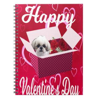 Shih tzu Valentine's Notebook, Cute Dog Spiral Notebook