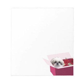 Shih tzu Valentine's Notepad, Cute Dog Notepad