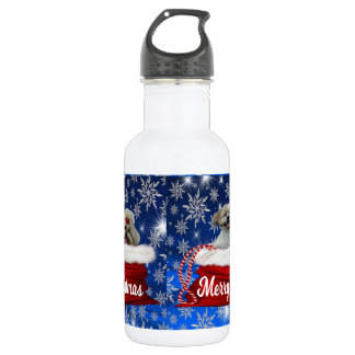 Shih tzu Water Bottle, Christmas 532 Ml Water Bottle