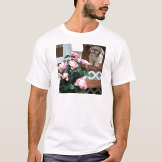 Shih Tzu with Spring Flowers T-Shirt