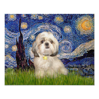 Shih Tzu (Y) - Starry Night Poster