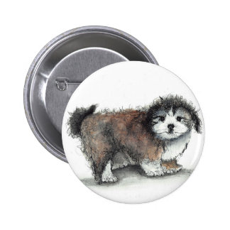 Shihtzu Puppy Dog, Pet 2 Inch Round Button