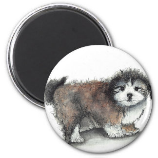Shihtzu Puppy Dog, Pet 2 Inch Round Magnet