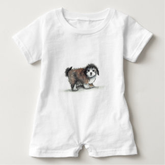 Shihtzu Puppy Dog, Pet Baby Romper
