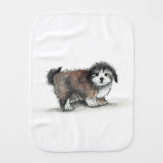 Shihtzu Puppy Dog, Pet Burp Cloth