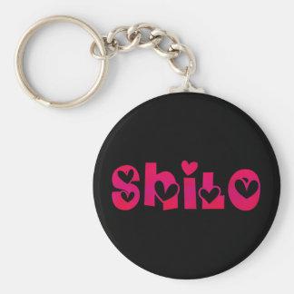 Shilo in Hearts Keychain