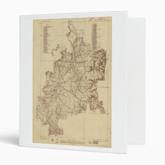 Shiloh National Military Park Tennessee Map (1934) Binder