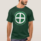 Shimazu Clan Mon - White/Green Field T-Shirt