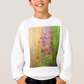 Shimmer flower sweatshirt