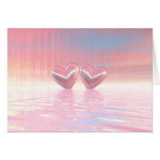 Shimmer Hearts Card