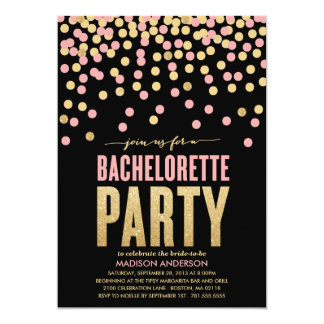 "SHIMMER & SHINE | BACHELORETTE PARTY INVITATION 5"" X 7"" INVITATION CARD"