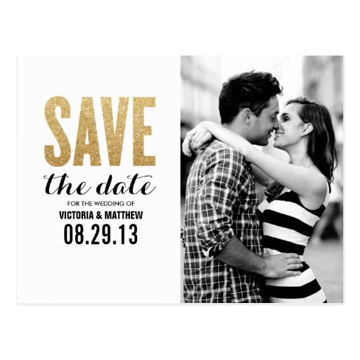 SHIMMER & SHINE | SAVE THE DATE ANNOUNCEMENT POSTCARD