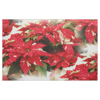 Shimmer Surprise Poinsettias Fabric