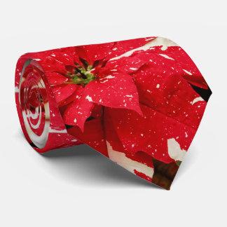 Shimmer Surprise Poinsettias Tie