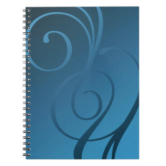 Shimmer Swirls - 28 Color Choices Notebook