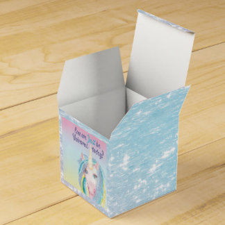 Shimmering Being Unicorns Favor Box