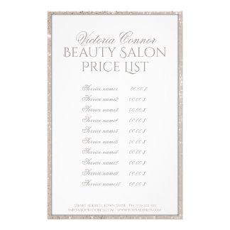 Shimmering Border Beauty Salon Price List Flyer