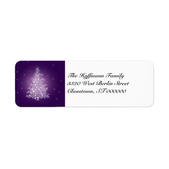 Shimmering Christmas Tree Return Address Labels