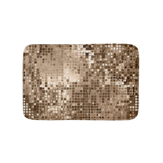 Shimmering Gold Metal Sparkle Stylish Bath Mat