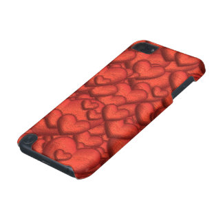 Shimmering hearts deep red iPod touch (5th generation) case