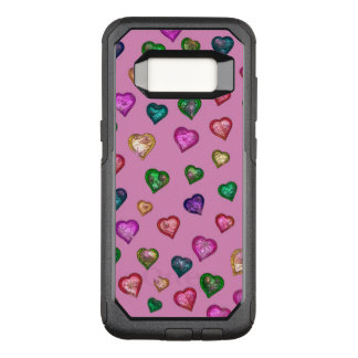 Shimmering hearts OtterBox commuter samsung galaxy s8 case