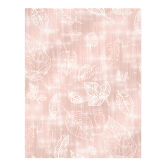 Shimmering Leaves Outline Rose Gold ID288 Letterhead
