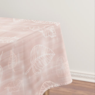 Shimmering Leaves Outline Rose Gold ID288 Tablecloth