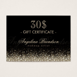Shimmering Silver Gift Certificate Black Card