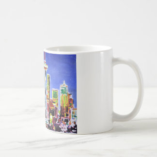 Shimmering Skyline Of Seattle With Space Needle Classic White Coffee Mug