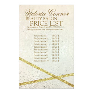 Shimmering Star Dust Luxury Price List Flyer