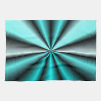 Shimmering Teal Satin Kitchen Towel