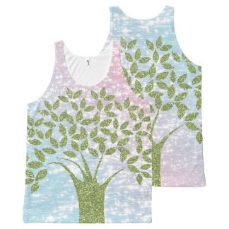 Shimmering Tree All-Over-Print Tank Top