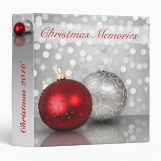 Shimmery Christmas Ornaments - Memories Binder