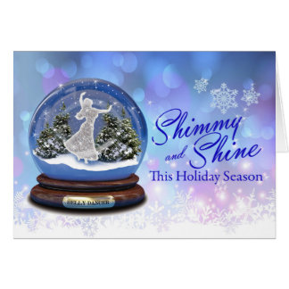 Shimmy and Shine Belly Dancer Holiday Card