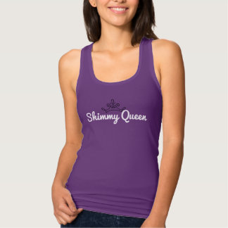 """Shimmy Queen"" tank top with outline crown"
