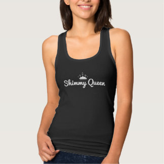 """Shimmy Queen"" tank top with white crown"