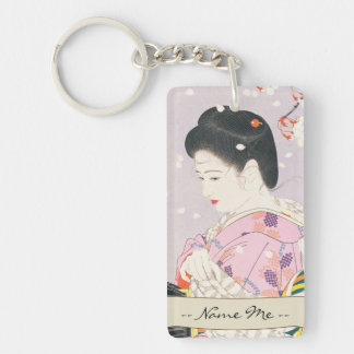 Shimura Tatsumi Five Figures of Modern Beauties Keychain