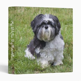 Shin Tzu dog cute photo album, binder, folder 3 Ring Binder