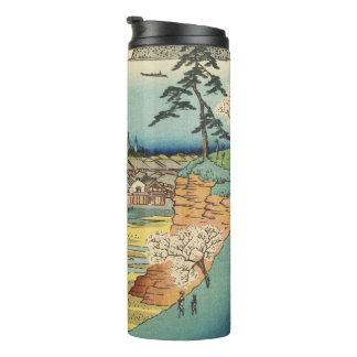 Shinagawa, Japan: Vintage Woodblock Print Thermal Tumbler